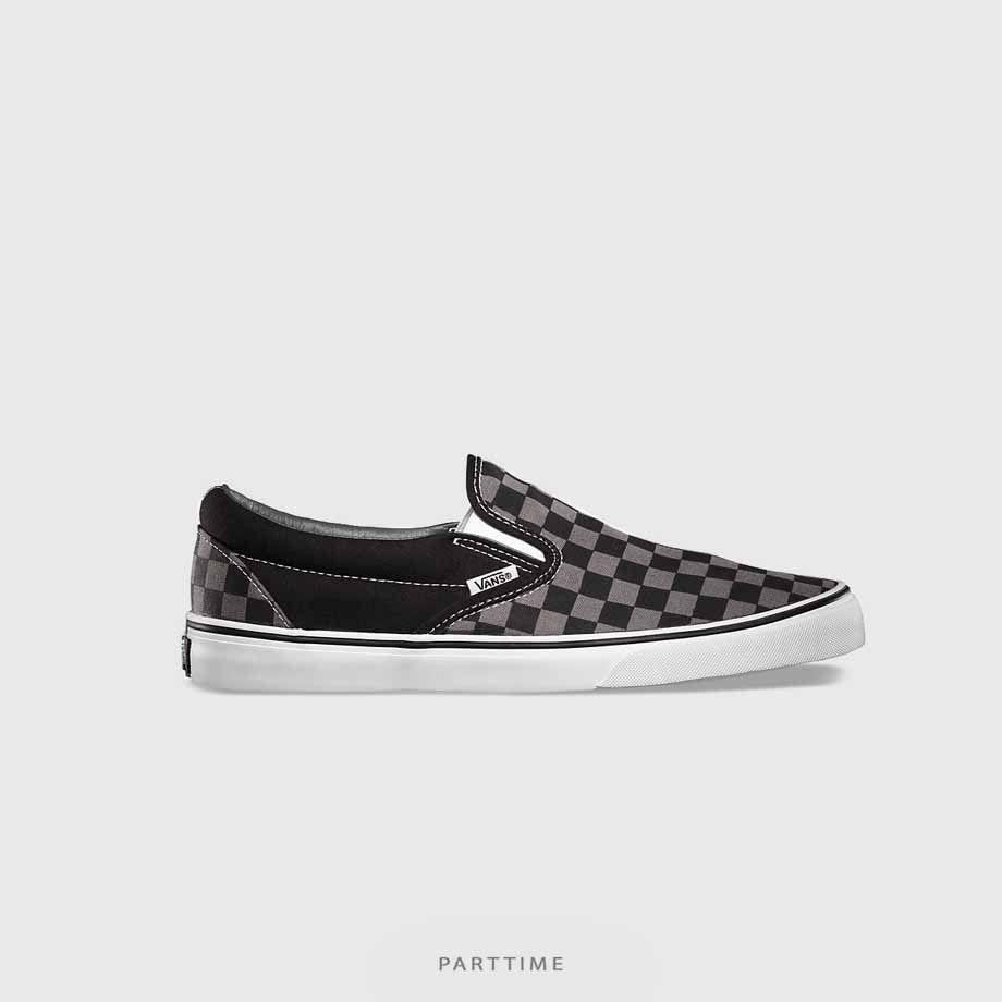 Checkerboard Slipon - Grey