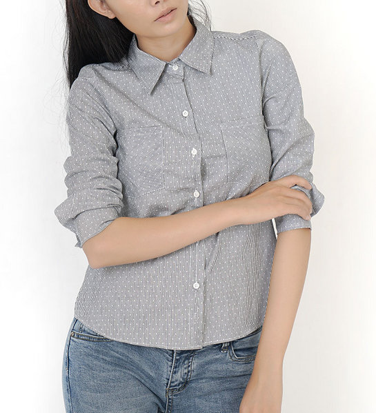 Cotton shirt_Slimfit ( STRIPED GREY )