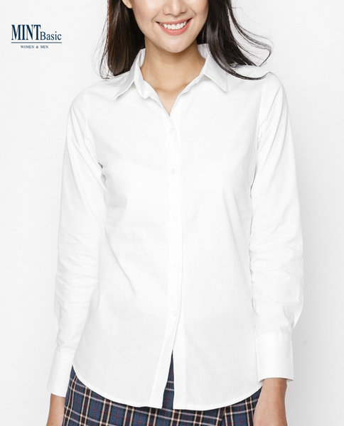 Cotton shirt_Slimfit ( WHITE )