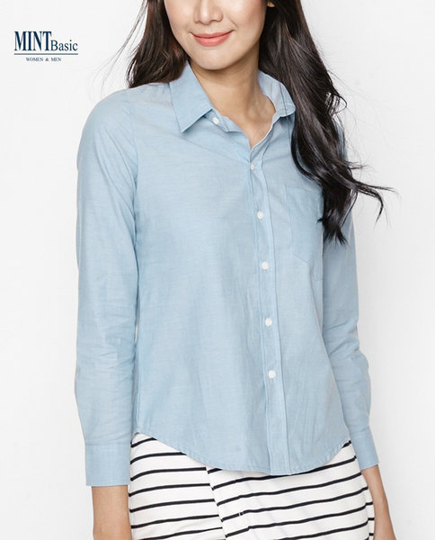 Cotton Shirt ( BLUE )