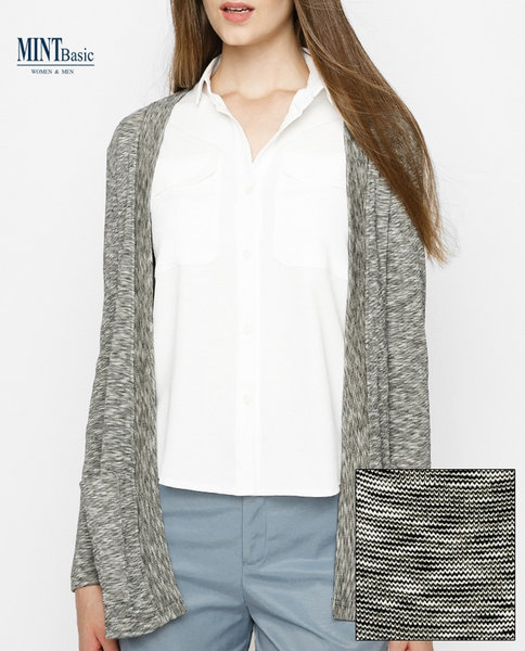 Cotton-blend cardigan ( BLACK )