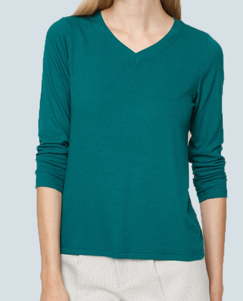 Long Sleeve Ribbed Top ( GE )