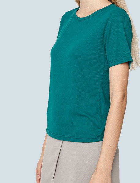 Short sleeves ribbed T-shirt ( GE )