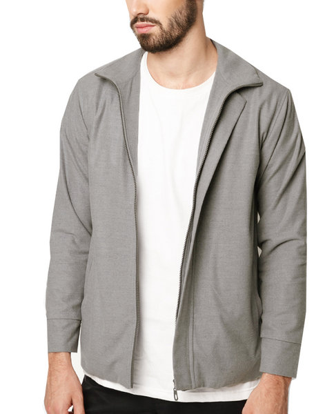 Zipper cotton-blend Jacket
