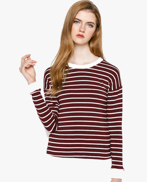 NECK STRIPE T-SHIRT ( RE )