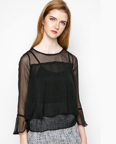 DOUBLE FRILL TOP ( BA )