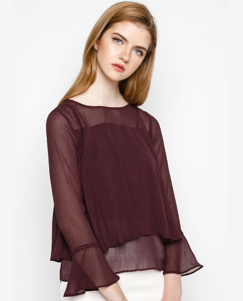 DOUBLE FRILL TOP ( RE )