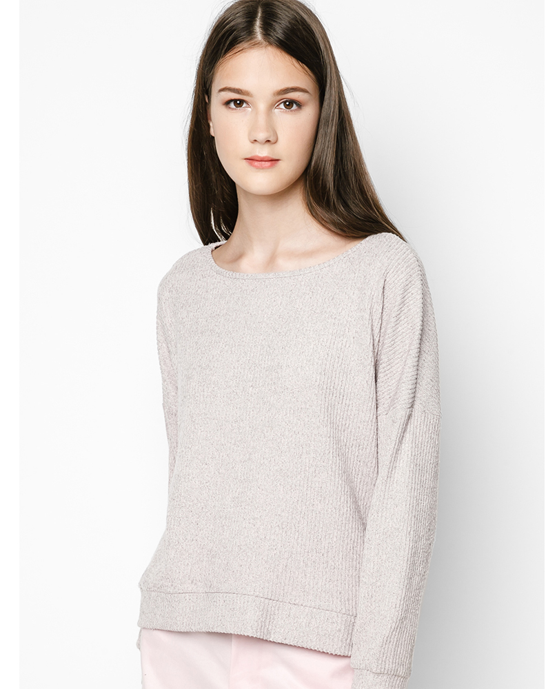 Croppep Sweater_Hồng Phấn