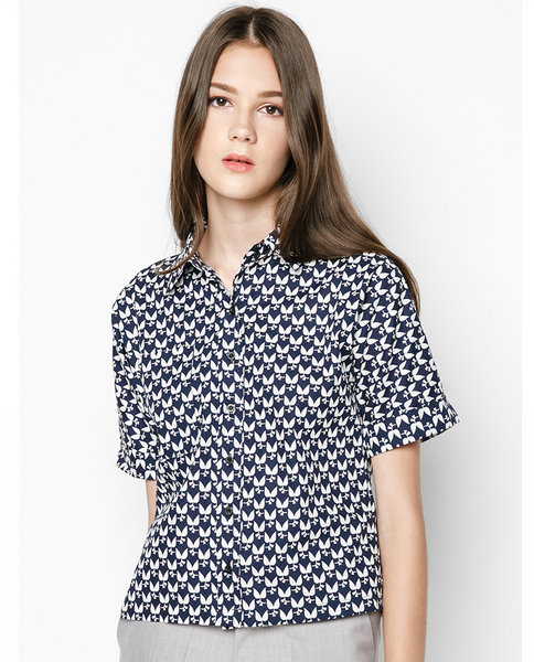 BASIC SHORT-SLEEVED SHIRT ( BW )