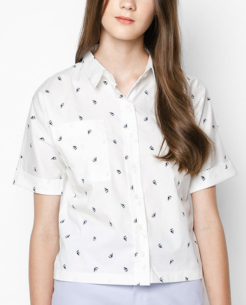 BASIC SHORT-SLEEVED SHIRT ( WH )