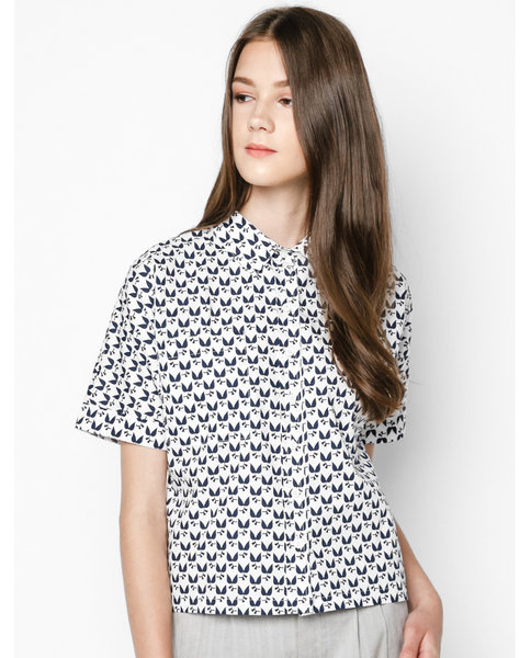 BASIC SHORT-SLEEVED SHIRT ( WB)