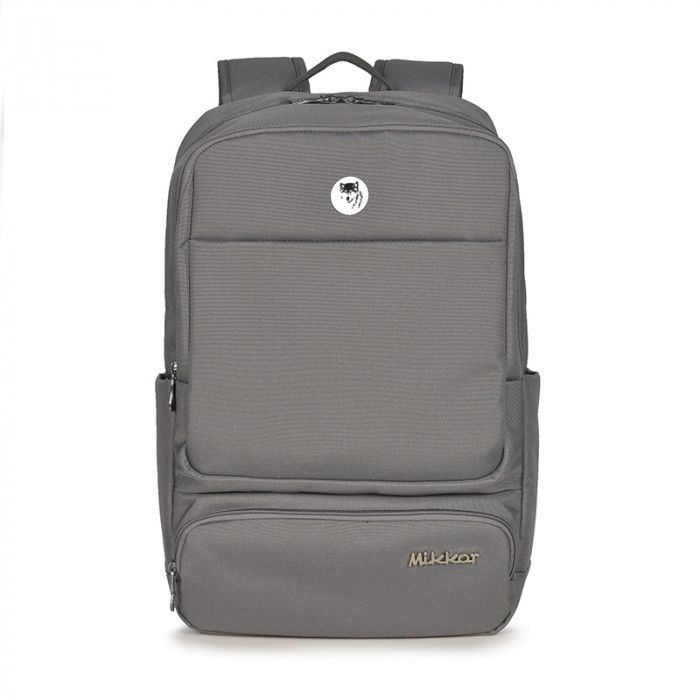 Balo Mikkor The Royce Backpack Dark Mouse Grey