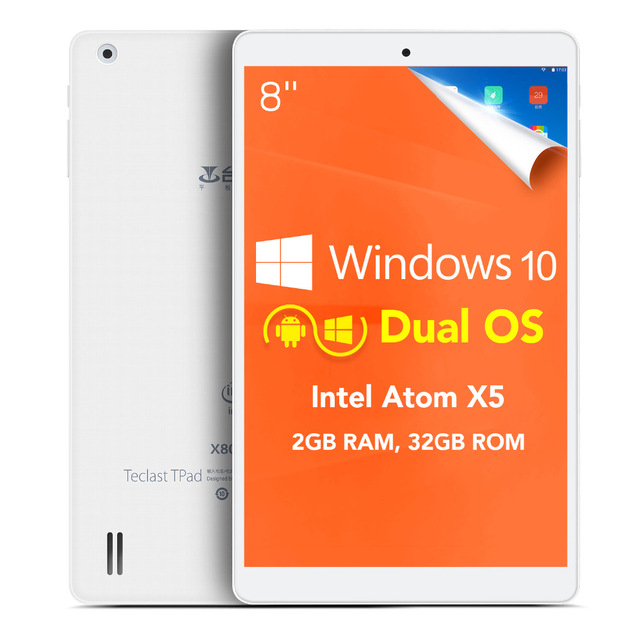 Teclast X80 Windows 10 Android 5.1 , Ram 2GB, Cpu 4 nhân, HDD 32GB