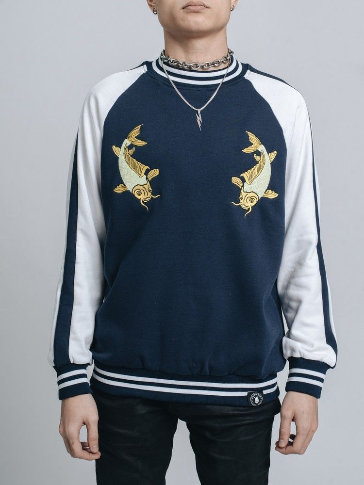 Sweater Sukajan Shui Koi Navy