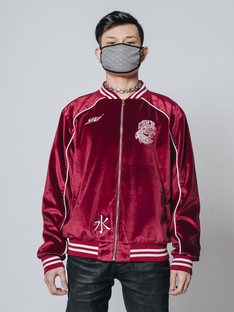 Velvet Varisity Jacket