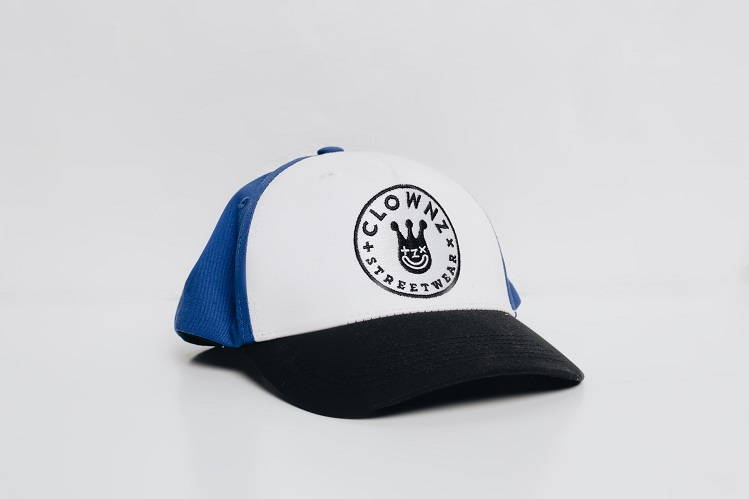 Trucker hat Smile face Black Blue