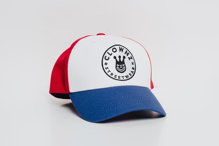 Trucker hat Smile face Blue Red