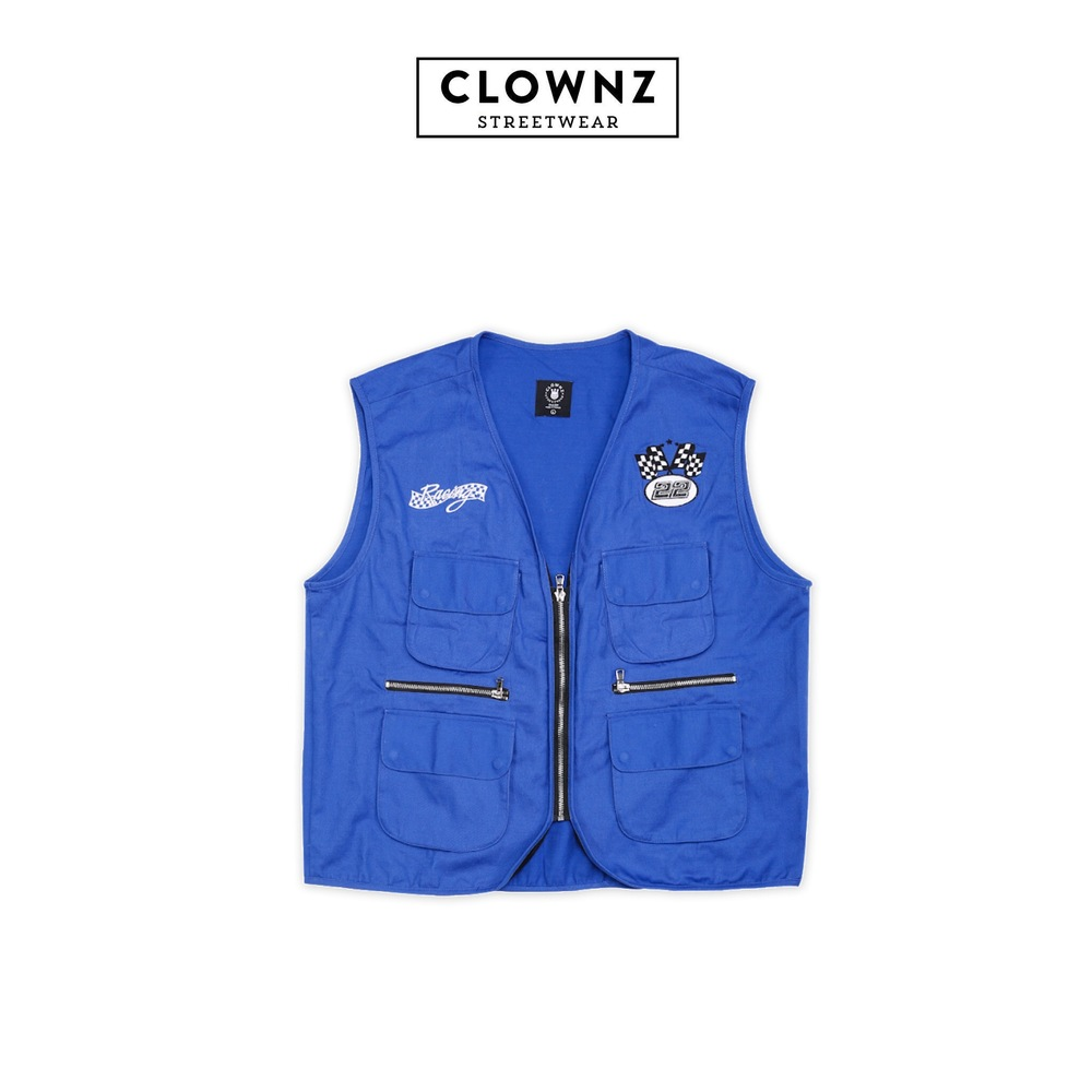Race vest Fast car Blue