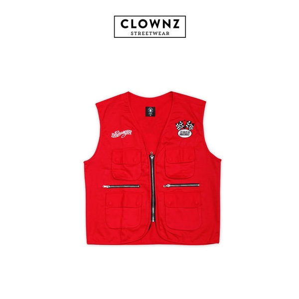 Race vest Fast car Red