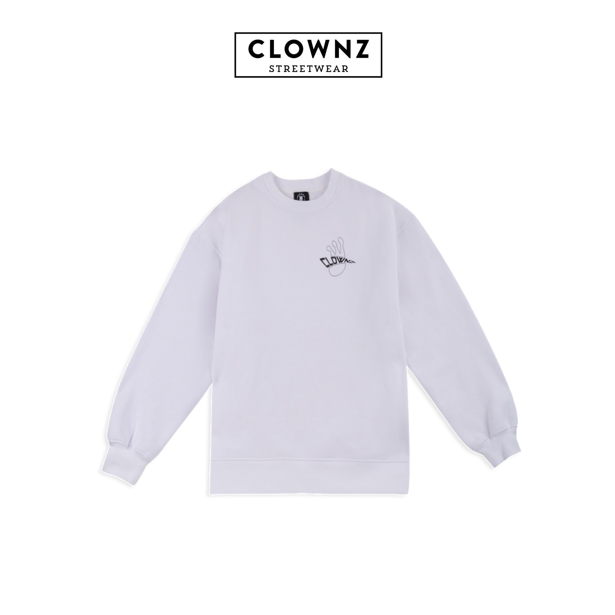 CLOWNZ Signature 2 Sweat Shirt F/W18 - White