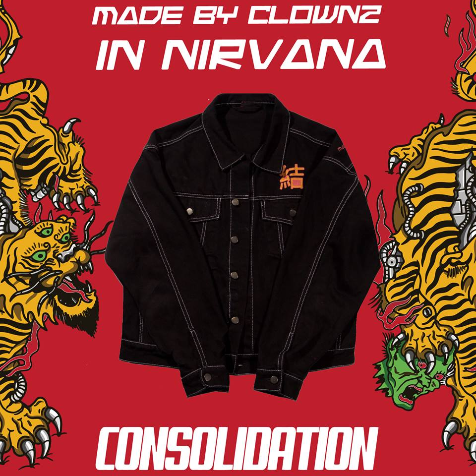 THE CONSOLIDATION VINTAGE DENIM JACKET BY CLOWNZ AND NIRVANA