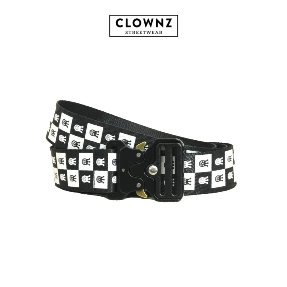 Checker Board Belt With Metal Buckle