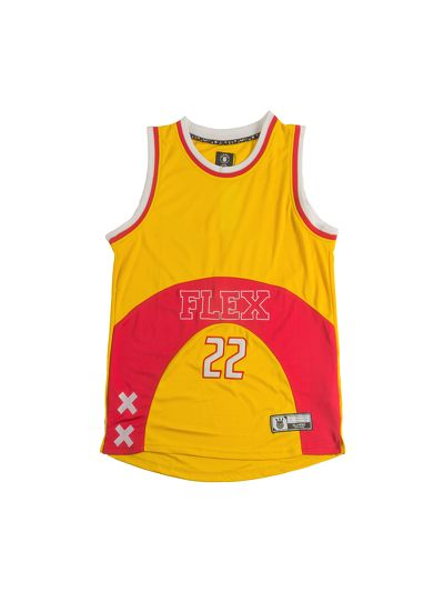 Flex Basketball Jersey Yellow V2