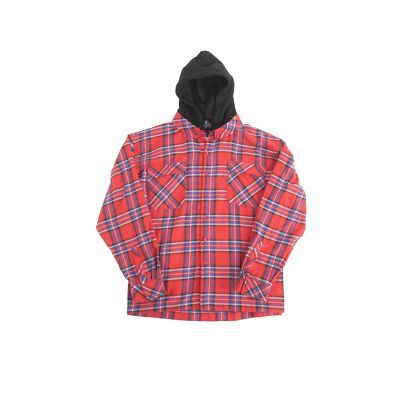 Hooded Shirt Red - Blue