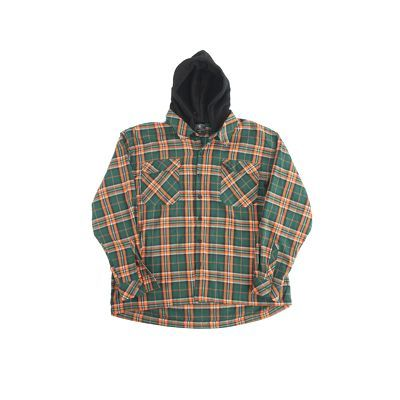 ClownZ Hooded Flannel - Green/Orange