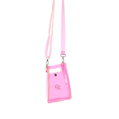 'CZ' Crystal Clear Mini Bag - Neon Pink