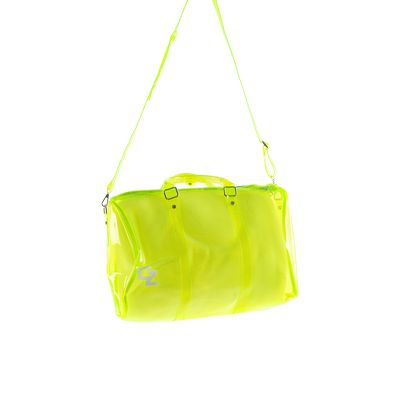 'CZ' Crystal Clear Duffle Bag - Neon Green
