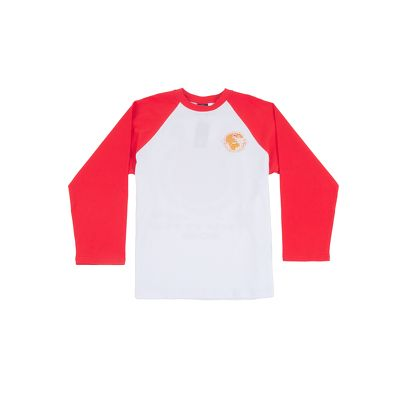 WorldZ Raglan White Red