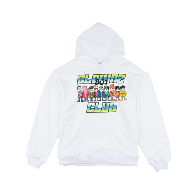 ClownZ Boy Club Hoodie White