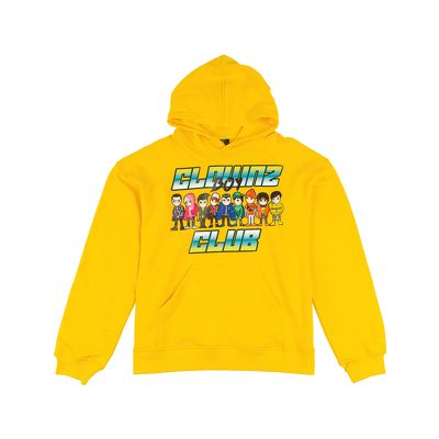 ClownZ Boy Club Hoodie Yellow