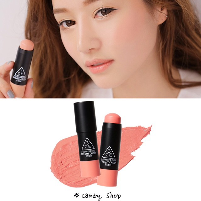 3CE CREAMY CHEEK STICK (#candy shop) - má hồng dạng thỏi