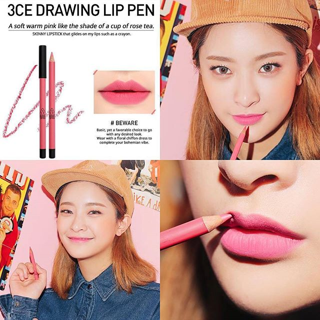SON CHÌ 3CE - DRAWING LIP PEN (#Bewear) Mua 1 tặng 1