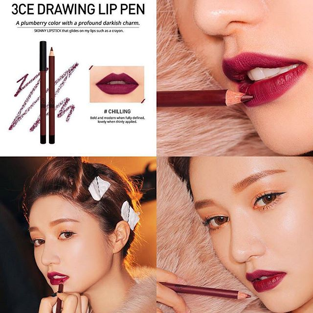SON CHÌ 3CE - DRAWING LIP PEN (#Chilling) Mua 1 tặng 1