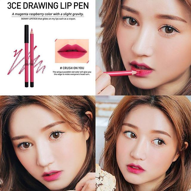 SON CHÌ 3CE - DRAWING LIP PEN (#Crush On You) Mua 1 tặng 1