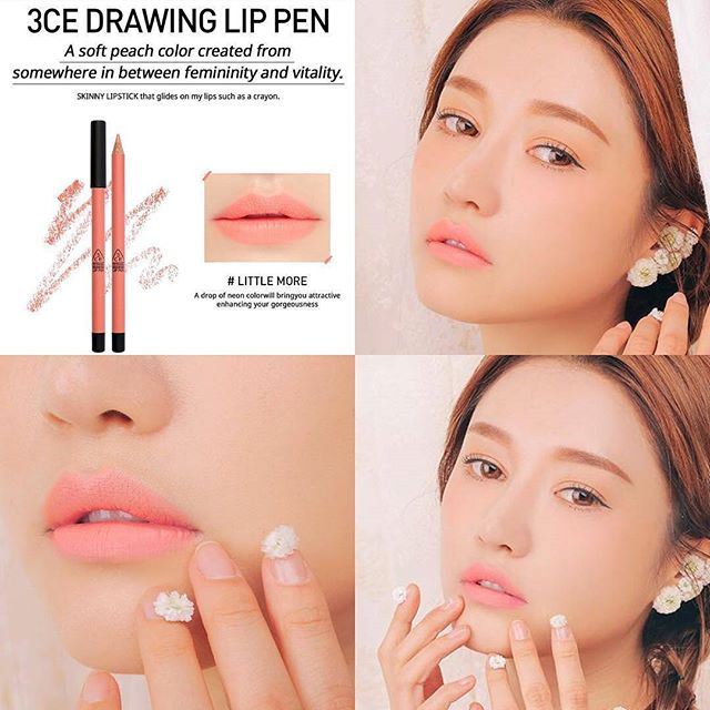 SON CHÌ 3CE - DRAWING LIP PEN (#Little More) Mua 1 tặng 1