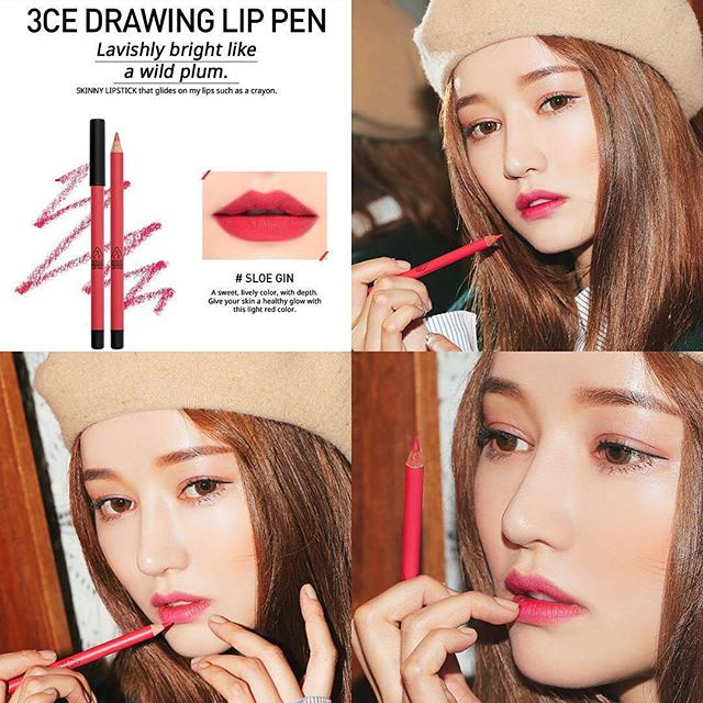 SON CHÌ 3CE - DRAWING LIP PEN (#Sloe Gin) Mua 1 tặng 1