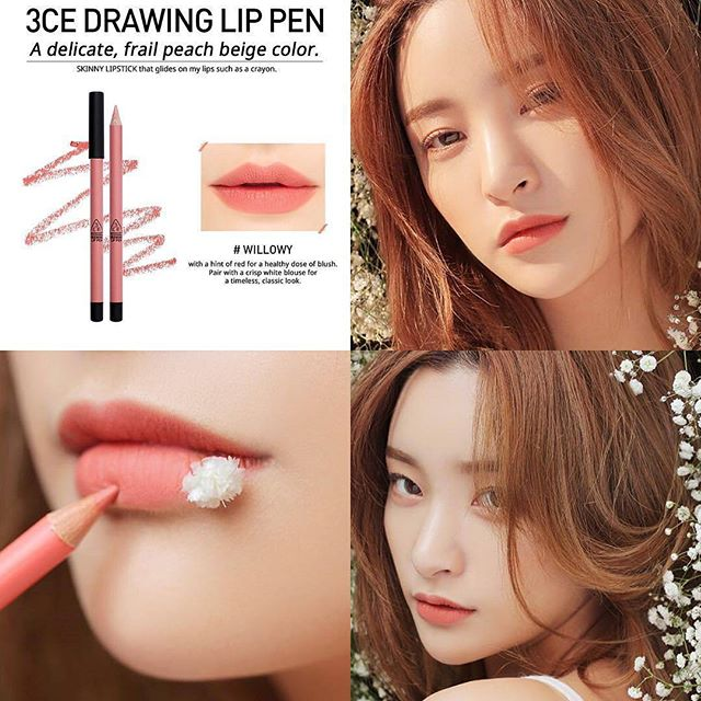 SON CHÌ 3CE - DRAWING LIP PEN (#Willowy) Mua 1 tặng 1