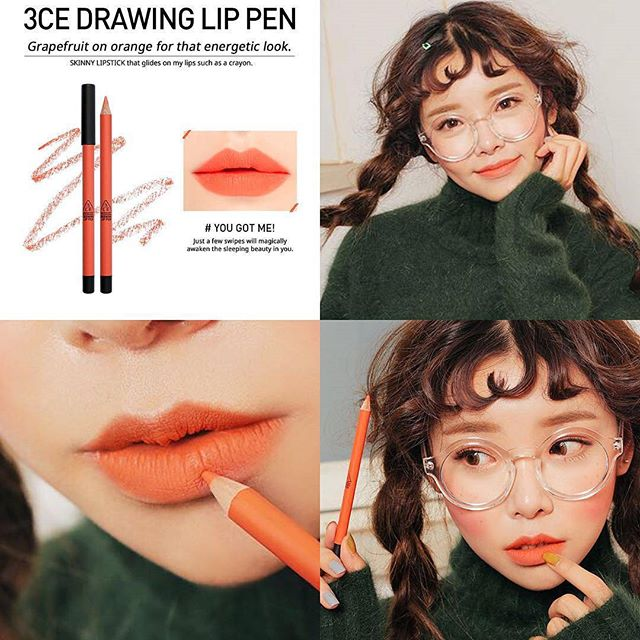 SON CHÌ 3CE - DRAWING LIP PEN (#You got me) Mua 1 tặng 1