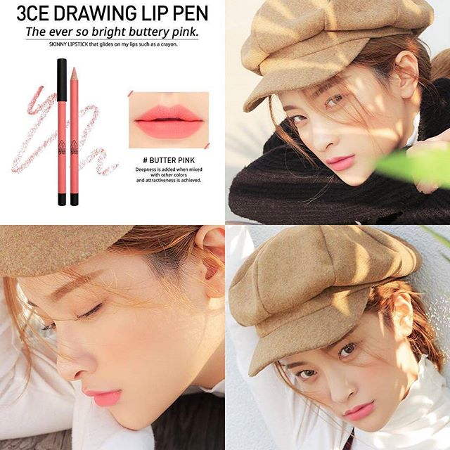 SON CHÌ 3CE - DRAWING LIP PEN (#Butter pink) Mua 1 tặng 1
