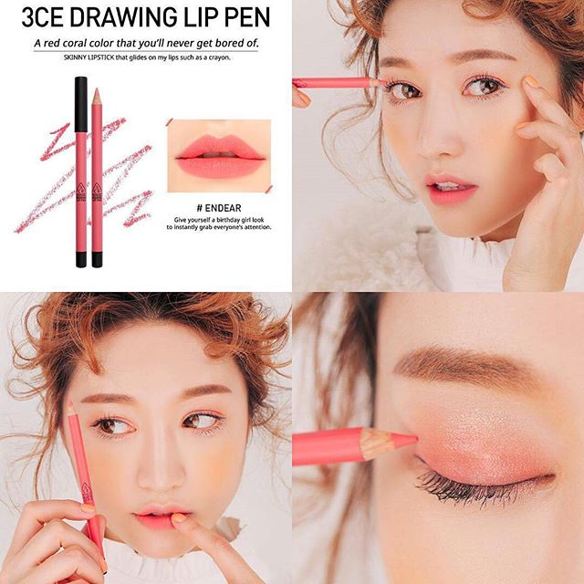 SON CHÌ 3CE - DRAWING LIP PEN (#Ender) Mua 1 tặng 1