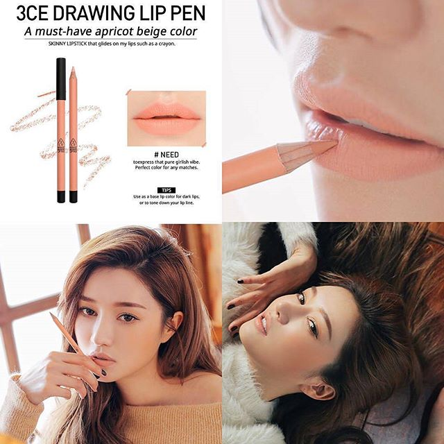 SON CHÌ 3CE - DRAWING LIP PEN (#need) Mua 1 tặng 1