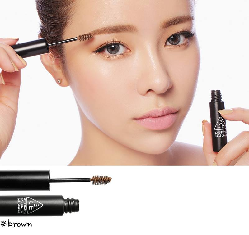 3 CONCEPT EYES EYEBROW MASCARA (mascara chải mày màu #Brown)
