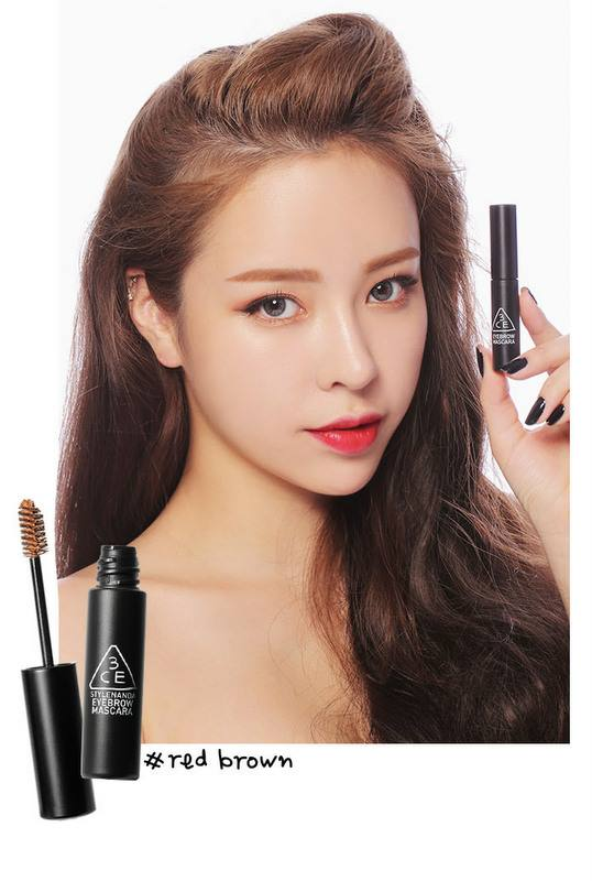 3 CONCEPT EYES EYEBROW MASCARA (mascara chải mày màu #red brown)