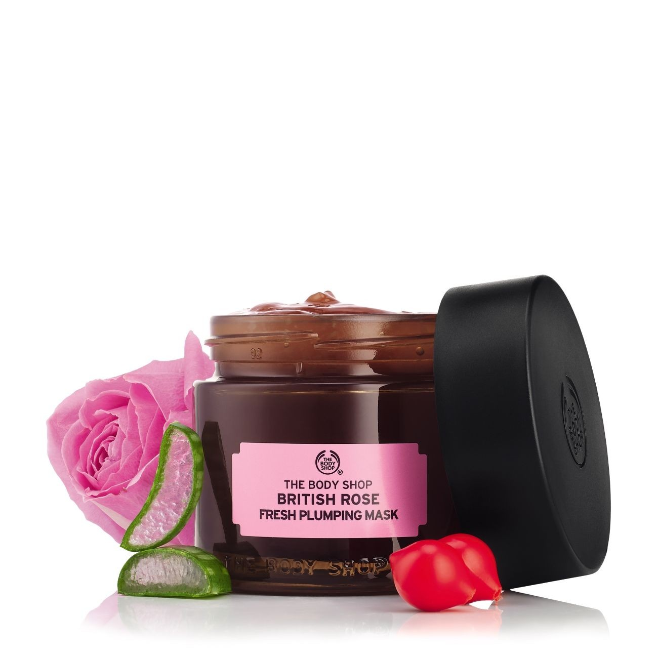 British Rose Fresh Plumping Mask 75gr - The Body Shop