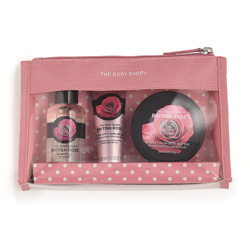 British Rose Beauty Bag Gift Set - The Body Shop