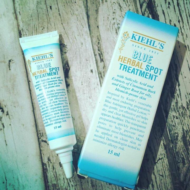 Gel trị mụn Kiehl's Blue Herbal Spot Treatment 15ml